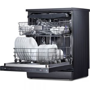 Voltas Beko 15 PS Full Size Dishwasher (Anthracite) DF15A Right Open View