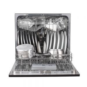 Voltas Beko Dishwasher 8 PS Portable Countertop Dishwasher (Black) DT8B Front Open View