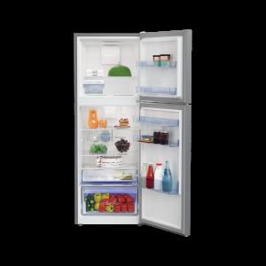 Voltas Beko 340 L 2 Star High End Frost Free Double Door Refrigerator (Silver) RFF363I Open View