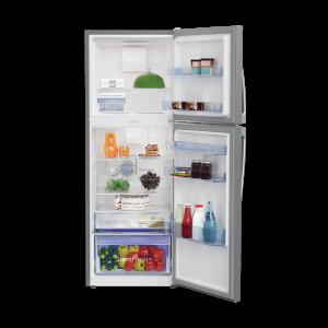 Voltas Beko 340 L 2 Star High End Frost Free Double Door Refrigerator (Silver) RFF363IF Open View