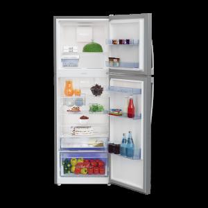 Voltas Beko 360 L 2 Star High End Frost Free Double Door Refrigerator (Silver) RFF383IF Open View