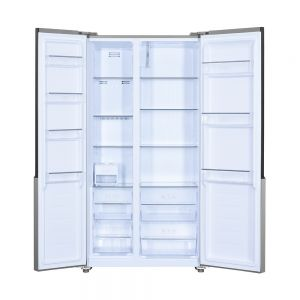 Voltas Beko 472 L Side by Side Refrigerator (Inox) RSB495XPE Open View