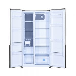 Voltas Beko 563 L Side by Side Refrigerator (Inox) RSB585XPE Open View
