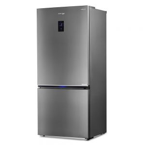 Voltas Beko 695 L 2 Star Bottom Mounted Refrigerator (Inox Look) RBM743IF Right View