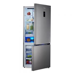 Voltas Beko 695 L 2 Star Bottom Mounted Refrigerator (Inox Look) RBM743IF Right Open View