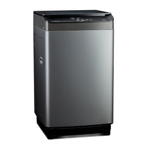 Voltas Beko 6.5 kg Fully Automatic Top Loading Washing Machine (Grey) WTL65UPGC Left View