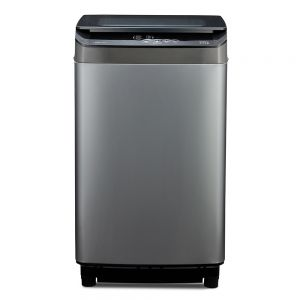 Voltas Beko 6.5 kg Fully Automatic Top Loading Washing Machine (Grey) WTL65UPGC Front View