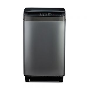 Voltas Beko 8 kg Fully Automatic Top Loading Washing Machine (Grey) WTL80UPGB Front View