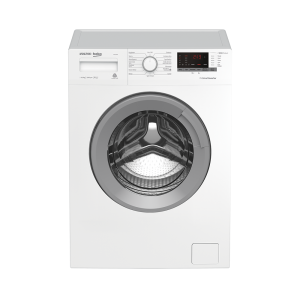 Voltas Beko 6.5 kg Fully Automatic Front Loading Washing Machine White (WFL6510VPWS) Front View