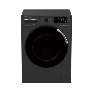 Voltas Beko 8 kg Fully Automatic Front Loading Washing Machine Manhattan Gray (WFL8014VTAP) Front View