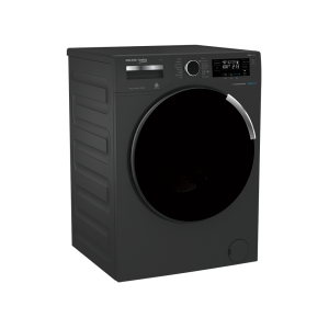 Voltas Beko 8 kg Fully Automatic Front Loading Washing Machine Manhattan Gray (WFL8014VTAP) Left View