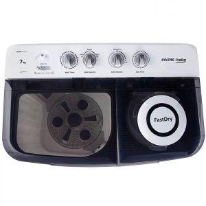 Voltas Beko 7 kg Semi Automatic Washing Machine (Gray) WTT70DGRT Top View