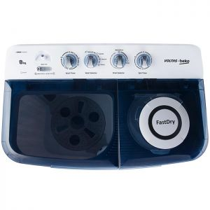 Voltas Beko 8 kg Semi Automatic Washing Machine (Sky Blue) WTT80DBLT Top View