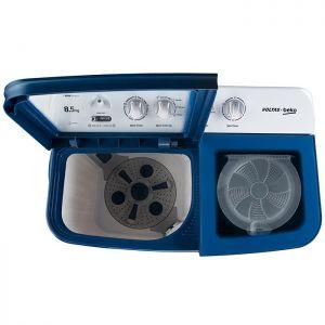 Voltas Beko 8.5 kg Semi Automatic Washing Machine (Sky Blue) WTT85DBLG Top View Open