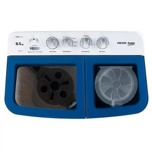 Voltas Beko 8.5 kg Semi Automatic Washing Machine (Sky Blue) WTT85DBLG Top View