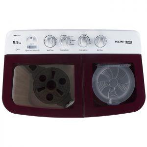 Voltas Beko 8.5 kg Semi Automatic Washing Machine (Burgundy) WTT85DBRG Top View