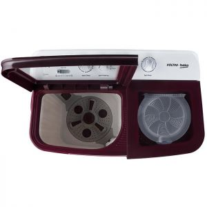 Voltas Beko 8.5 kg Semi Automatic Washing Machine (Burgundy) WTT85DBRG Top View Open