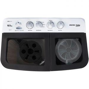 Voltas Beko 8.5 kg Semi Automatic Washing Machine (Gray) WTT85DGRG Top View