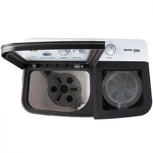 Voltas Beko 8.5 kg Semi Automatic Washing Machine (Gray) WTT85DGRG Top View Open