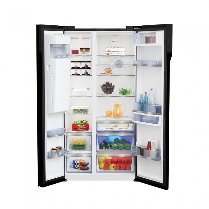 634 L Side by Side Refrigerator RSB655GBRF - Price, Specs & Features |  Voltas Beko